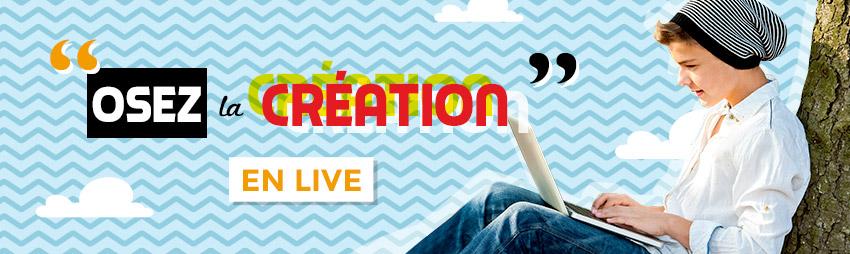 bandeau - osez la création live