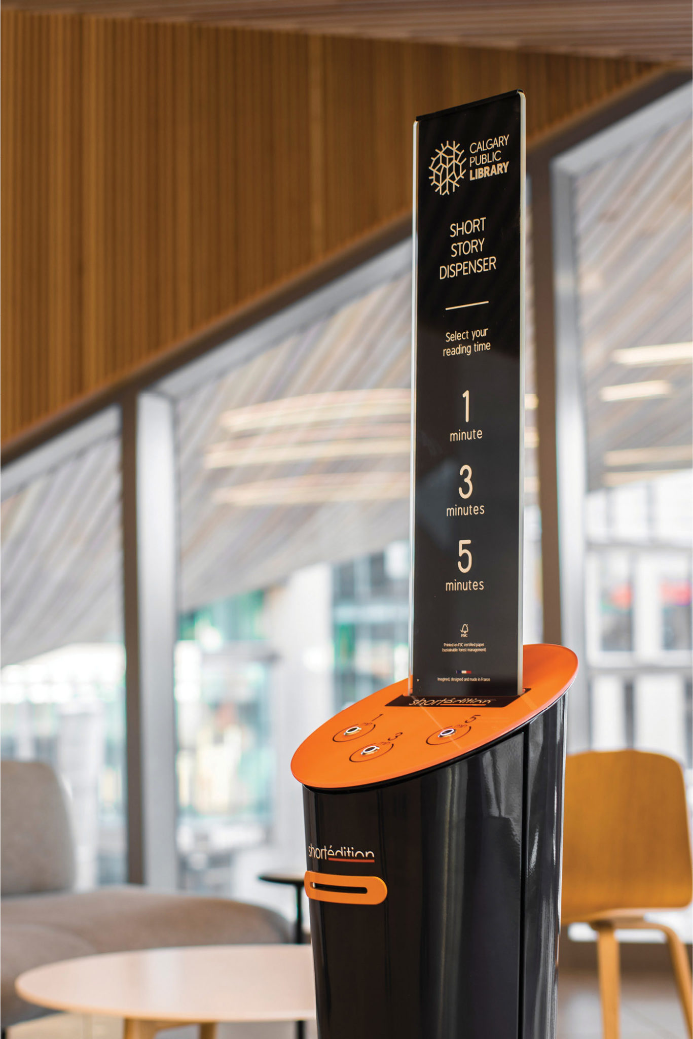 Image of [CA] Check Out the Short Story Dispenser Inside Calgary's Central Library