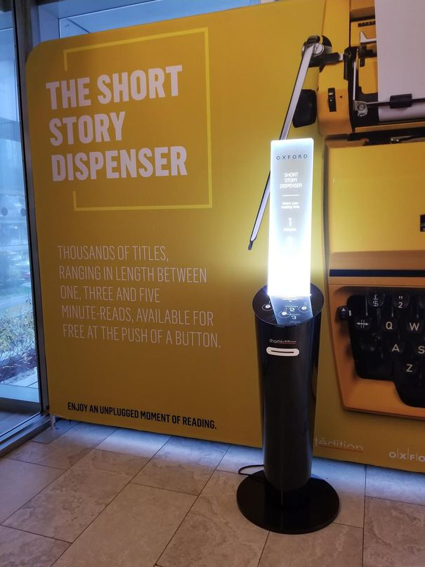 Image de Got one, three or five minutes? This machine gives you short stories to read for free