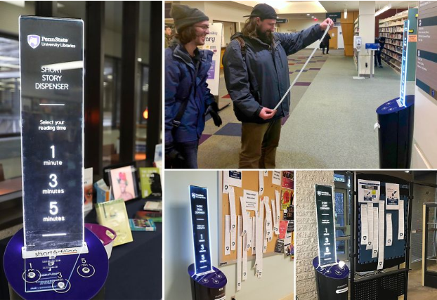 Image of Libraries' new regional short story dispensers double Penn State writers' reach