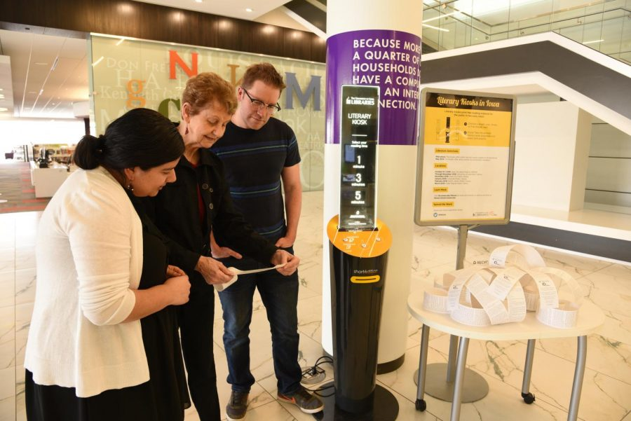 Image of Literary kiosk concludes introductory tour, more to arrive