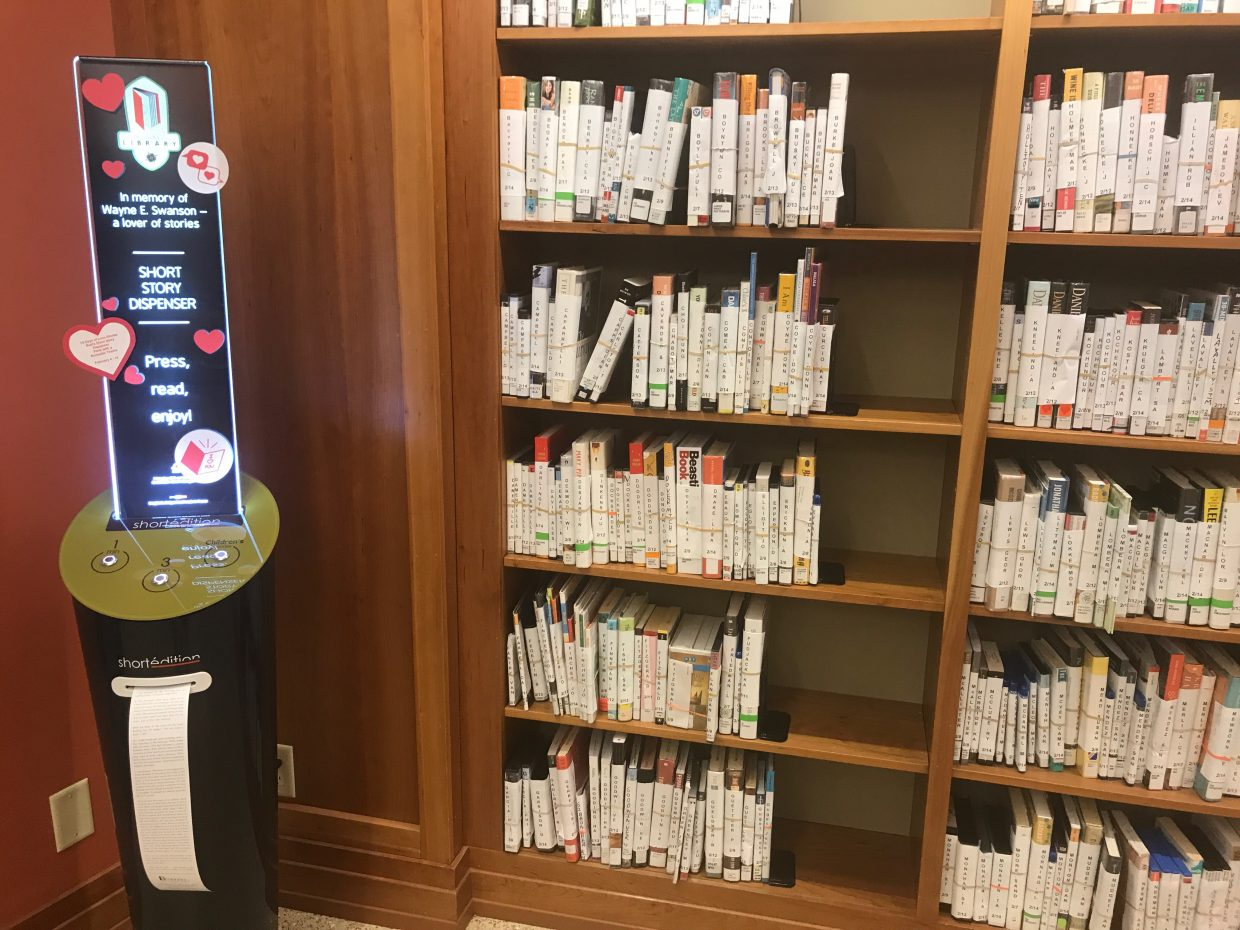 Image of Short Story Dispenser makes its debut in Steamboat, the first in Colorado