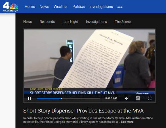 Image of Short Story Dispenser Provides Escape at the MVA