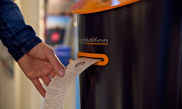 Image of Short story vending machines to transport London commuters