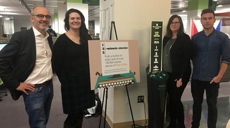 Image of Swem Library debuts short story dispenser, first of its kind in Virginia