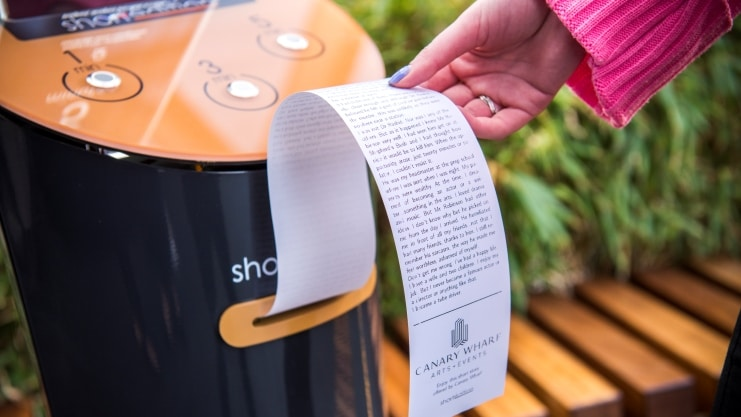 Image of These Lovely Machines Dispense Short Stories To London Commuters