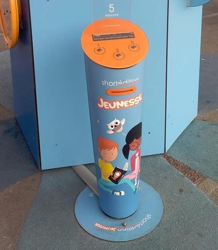Image de Un distributeur d'histoires jeunesse en gare !